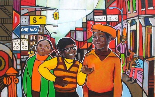 """"""" Harlem """" 122 x 78 cm Acrílico sobre madera."""